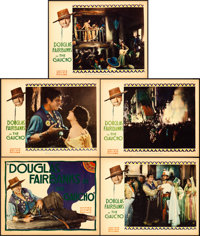 """The Gaucho (United Artists, 1927). Title Lobby Card and Lobby Cards (4) (11"""" X 14""""). ... (Total: 5 Items)"""