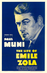 """The Life of Emile Zola (Warner Brothers, 1937). One Sheet (27"""" X 41.75"""")"""