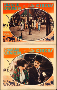 """The Circus (United Artists, 1928). Lobby Cards (2) (11"""" X 14""""). ... (Total: 2 Items)"""