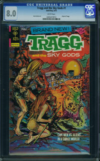 Tragg and the Sky Gods #1 (Gold Key/Whitman, 1975) CGC VF 8.0 White pages