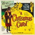 "Movie Posters:Drama, A Christmas Carol (United Artists, 1951). Six Sheet (79"" X 80"")....."