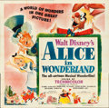 "Movie Posters:Animation, Alice in Wonderland (RKO, 1951). Six Sheet (80"" X 80"").. ..."