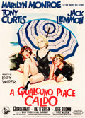 "Movie Posters:Comedy, Some Like It Hot (United Artists, 1959). Italian 2 - Fogli (39.5"" X55"") Giorgio Olivetti Artwork. ..."