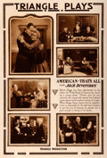 "Movie Posters:Comedy, American - That's All (Triangle, 1917). Rotogravure One Sheet(28.5"" X 42"").. ..."