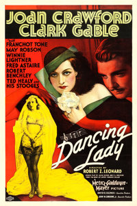 """Dancing Lady (MGM, 1933). One Sheet (27"""" X 41"""") Style D"""