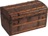 [Mark Twain]. Stagecoach Trunk once owned by Samuel L. Clemens. St. Louis, Missouri: J. Barwick Trunk Manufacturer, c