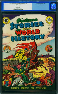 Picture Stories from World History #2 (EC, 1947) CGC NM+ 9.6 Off-white pages
