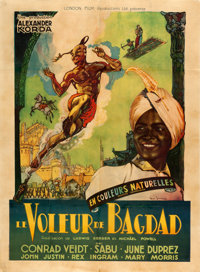 "The Thief of Bagdad (London Film, 1946). French Grande (46.75"" X 63"") Marcel Jeanne Artwork"