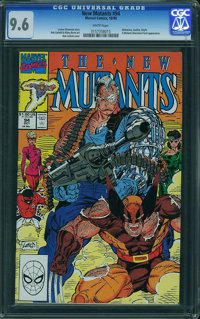 The New Mutants #94 (Marvel, 1990) CGC NM+ 9.6 White pages