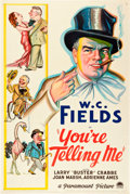 """Movie Posters:Comedy, You're Telling Me (Paramount, 1934). One Sheet (27"""" X 41"""") StyleA.. ..."""