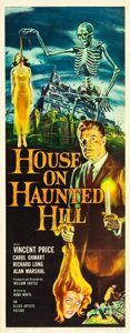 """Movie Posters:Horror, House on Haunted Hill (Allied Artists, 1959). Insert (14"""" X 36"""") Reynold Brown Artwork.. ..."""