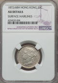 Hong Kong:British Colony, Hong Kong: British Colony. Victoria 20 Cents 1872/68-H AU Details (Surface Hairlines) NGC,...