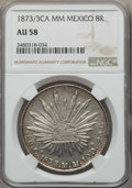 Mexico, Mexico: Republic 8 Reales 1873/3 Ca-MM AU58 NGC,...