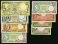 World Currency, Indonesia 1957 Issue 5-2500 Rupiah Pick 49-54 Eight Examples.. ... (Total: 8 notes)