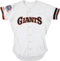 Baseball Collectibles:Uniforms, 1989 Brett Butler Game Worn San Francisco Giants World SeriesJersey Worn During Earthquake Series. ...