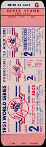 Baseball Collectibles:Tickets, 1951 World Series Game 2 Proof Ticket. ...