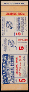 Baseball Collectibles:Tickets, 1951 World Series Game 5 Proof Ticket. ...