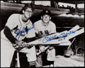 Baseball Collectibles:Photos, Mickey Mantle and Stan Musial Dual Signed Photograph. ...
