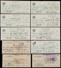 Autographs:Checks, Sam Snead Signed Checks Lot of 10. ...