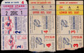 Baseball Collectibles:Tickets, 1951 World Series Ticket Stubs Lot of 3. ...