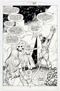 Original Comic Art:Splash Pages, Val Semeiks Conan the Barbarian #204 Page 20 Splash OriginalArt (Marvel, 1988)....