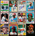 Baseball Cards:Lots, Lou Brock Signed Cards Lot of 32 Cards....