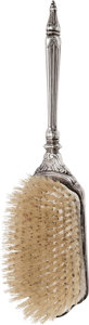 Silver Smalls, A Webster Co. Art Deco Sterling Silver Hairbrush, circa 1920-1930.Marks: STERLING, (W CO-arrow). 10-5/8 inches long (27...