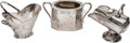 Silver Holloware, Continental:Holloware, Three Silver-Plated Table Articles: Sugar Bowl, Salt Scuttle, SaltPail, 20th century. Marks: (various). 5-3/8 inches high (...(Total: 3 Items)