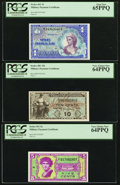 Military Payment Certificates:Series 481, Series 481 10¢ PCGS Very Choice New 64PPQ;. Series 541 5¢ PCGS Very Choice New 64PPQ;. Series 661 $1 PCGS Gem New 65PP... (Total: 3 notes)
