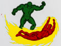 Animation Art:Production Cel, The Fantastic Four Human Torch and Sue Storm Production Celand Animation Drawing Group of 6 (Marvel Films, 1995). ... (Total:6 )