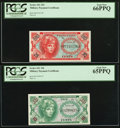 Military Payment Certificates:Series 641, Series 641 10¢ PCGS Gem New 65PPQ;. Series 641 25¢ PCGS Gem New66PPQ.. ... (Total: 2 notes)