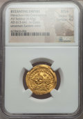 Ancients:Byzantine, Ancients: Heraclius (AD 610-641), with Heraclius Constantine (AD613-641). AV solidus (4.43 gm). NGC MS ★ 5...