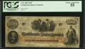 Confederate Notes:1862 Issues, J.H. Childrey Ad Note T41 $100 1862.. ...