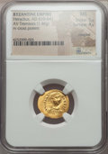 Ancients:Byzantine, Ancients: Heraclius (AD 610-641). AV tremissis (1.46 gm). NGC MS5/5 - 4/5, crimped....
