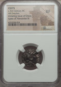 Ancients:Celtic, Ancients: EASTERN CELTS. Imitating Alexander III the Great (336-323BC). AR drachm. NGC XF...