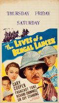 "Movie Posters:Adventure, The Lives of a Bengal Lancer (Paramount, 1935). Midget Window Card(8"" X 14"").. ..."