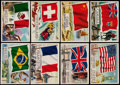 "Non-Sport Cards:Sets, 1956 Topps ""Flags of the World"" Complete Set (80). ..."