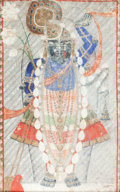 Other, An Indian Tantric Gouache Painting, 19th century. 54-1/2 x 35-3/4inches (138.4 x 90.8 cm) (framed and glazed). ... (Total: 2 Items)