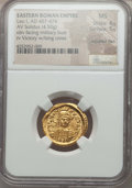 Ancients:Roman Imperial, Ancients: Leo I (AD 457-474). AV solidus (4.50 gm).NGC MS 4/5 - 5/5, adjusted flan....
