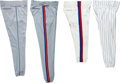 Baseball Collectibles:Others, 1982-2004 Gary Carter Game Worn Pants Lot of 4 from The Gary Carter Collection. ...