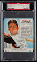 Baseball Cards:Singles (1950-1959), 1952 Red Man Tobacco Nelson Fox #9 PSA NM-MT+ 8.5 - Highest Graded Example....