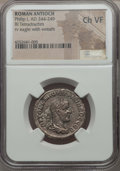 Ancients:Roman Provincial , Ancients: SYRIA. Antioch. Philip I (AD 244-249). BI tetradrachm.NGC Choice VF....