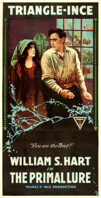 "The Primal Lure (Triangle, 1916). Three Sheet (41"" X 81"")"