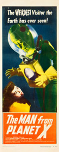 "Movie Posters:Science Fiction, The Man from Planet X (United Artists, 1951). Insert (14"" X 36"")....."