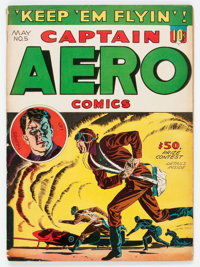 Captain Aero Comics #5 (Holyoke Publications, 1942) Condition: VG-