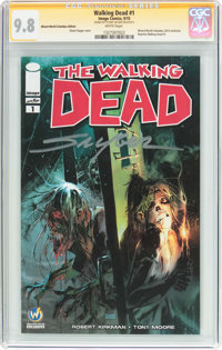 The Walking Dead #1 Wizard World Columbus Edition - Signature Series (Image, 2015) CGC NM/MT 9.8 White pages