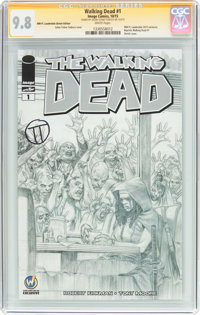 The Walking Dead #1 Wizard World Ft. Lauderdale Sketch Edition - Signature Series (Image, 2015) CGC NM/MT 9.8 White page...