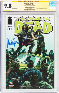 The Walking Dead #1 Wizard World Nashville Edition - Signature Series (Image, 2013) CGC NM/MT 9.8 White pages