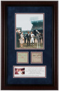 Baseball Collectibles:Others, Robert Kennedy Signed Cut Signature Mickey Mantle Display....