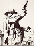 Original Comic Art:Covers, Matt Wagner Eb'nn #5 Cover Original Art (Now, 1986)....